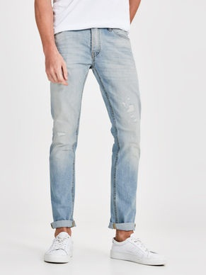 Straight Cut Faded Denim Jean for Men