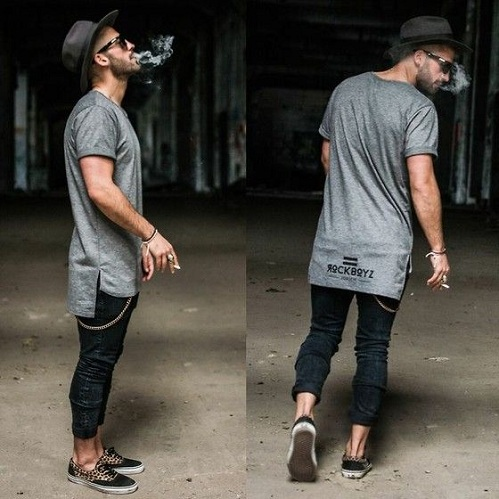Long T Shirt In Street Style