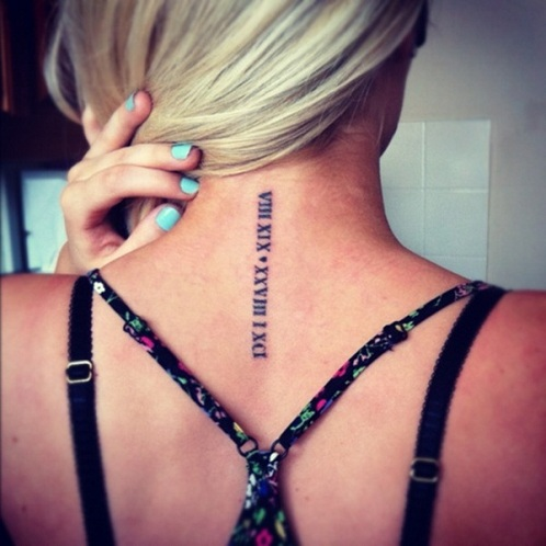 Striking Roman numeral Tattoo Design