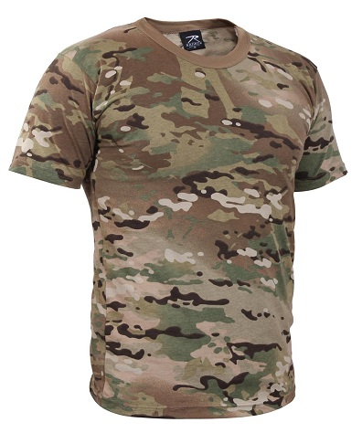 T-Shirt with Military Prints