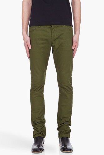 Tapered Green Jeans