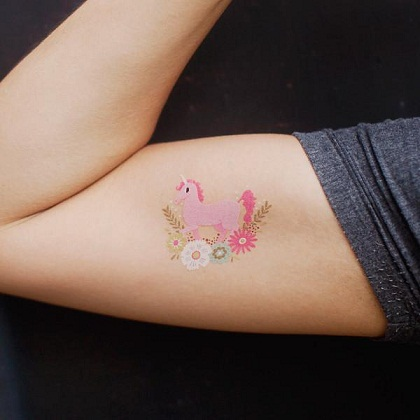 Temporary Unicorn Tattoo Designs