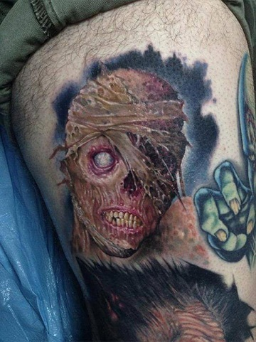 Thrilling Zombie Tattoo Design