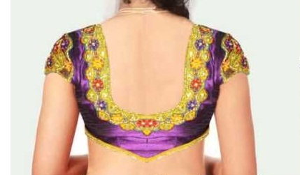 U Neck Blouse Design