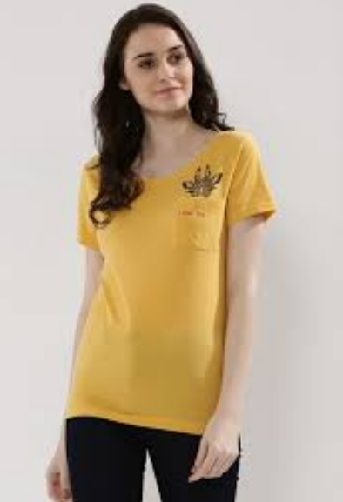 Yellow Beauteous T-Shirts for Girl