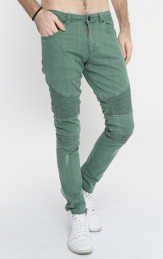 Washed Green Jeans