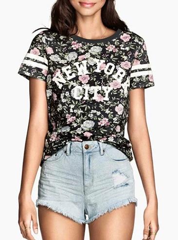 Women's Dynamic Printed T-Shirt