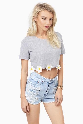 Women's Basic Crop T-Shirt