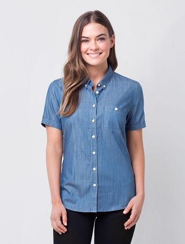 Women's Denim Short T-Shirt
