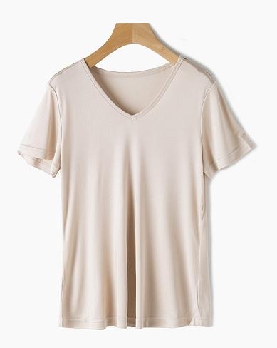 Women's Silk Blend Short T-Shirt