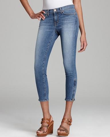 Zipper Capri jeans