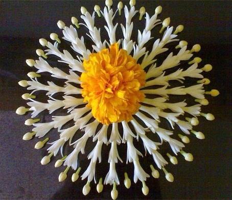 simple flower rangoli designs