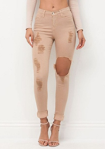 Ankle Cut Pencil Jeans
