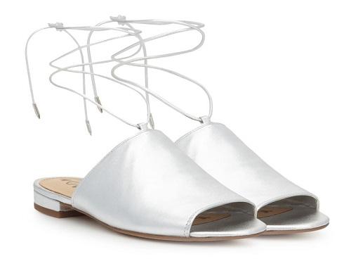 Womens Ankle Wrap Slide Sandal