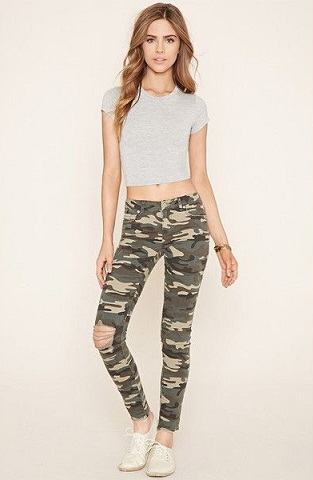 Army Style Pencil Jeans