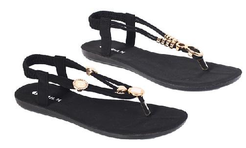 Black Rubber Sandal for Women and Men