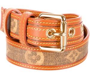 Brown Stitched Belt Design