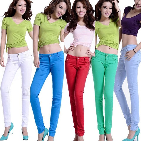 Colourful Pencil Jeans