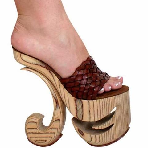 Designery Heel Slip On Wooden Sandal for Women