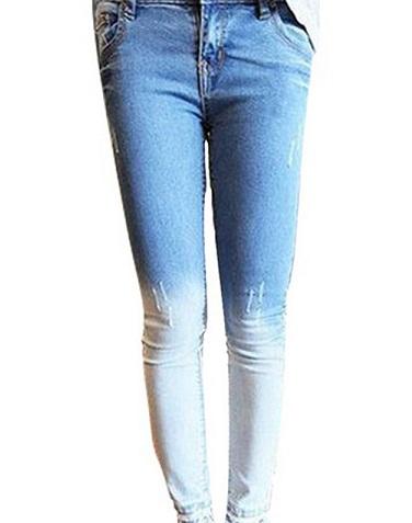 Dual Shade Pencil Jeans
