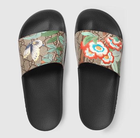 Women's Floral Strapped Slide Sandal