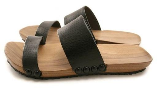 Handmade Slip-on Men´s Wooden Sandal