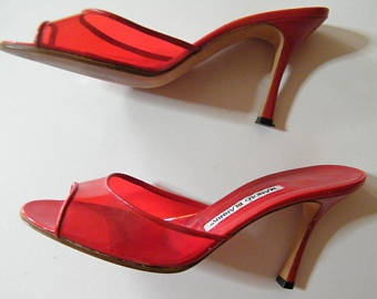 Womens Kitten Heel Slide Sandal