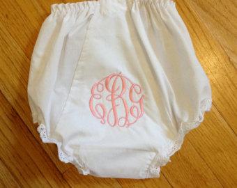 Monogrammed Baby Panties