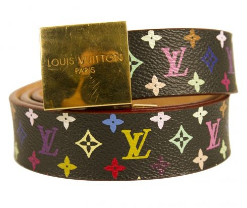 Multicolor Monogram Leather Belt