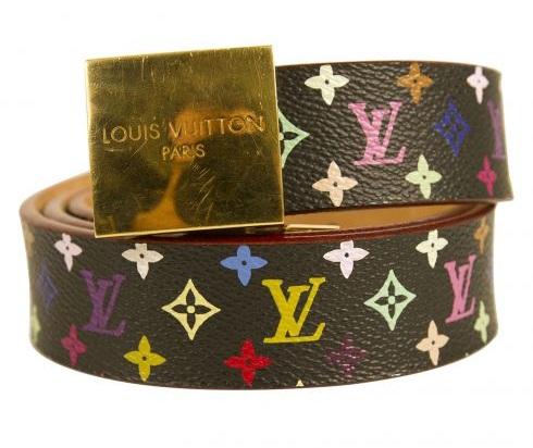 Multicolor Monogram Leather Belt