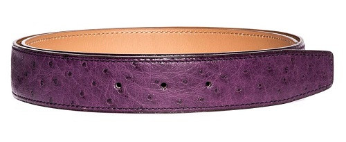 Ostrich Leather Belt for Women
