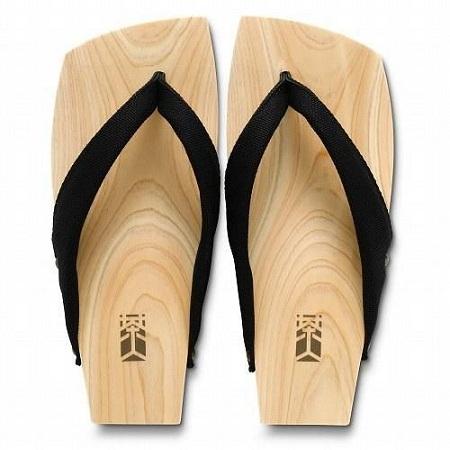 Plain Flat Wooden Sandal with Y Strap for Men
