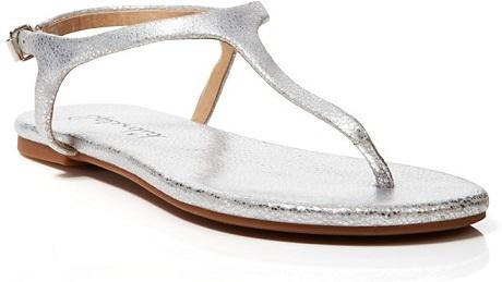 Silver Thong Sandal