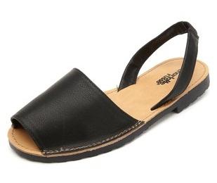 Womens Sling Back Leather Slide Sandal