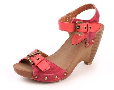 Wedge Heel Wooden Sandal for Women