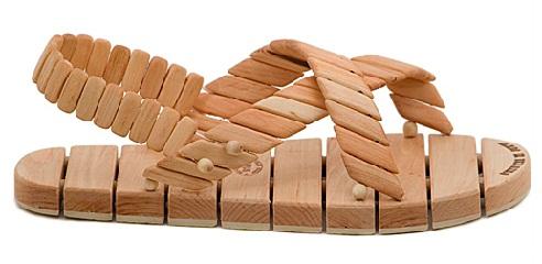 Wooden Block Unisex Sandal Design