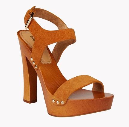 Wooden Pointed Heel Sandal for Women