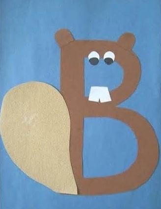 Alphabetical Beaver Craft