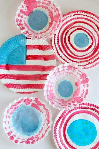American Flag Party Plate