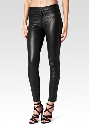 Ankle Length Leather Jeans