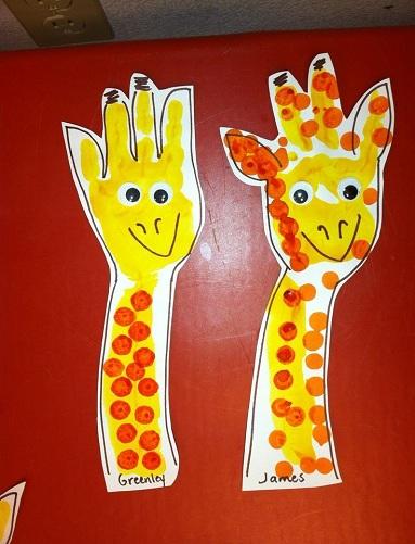 Arm Print Giraffe