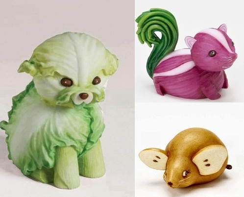 Art with Vegetables as a Craft Idea