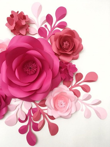 Artistic Paper Flower Crafts
