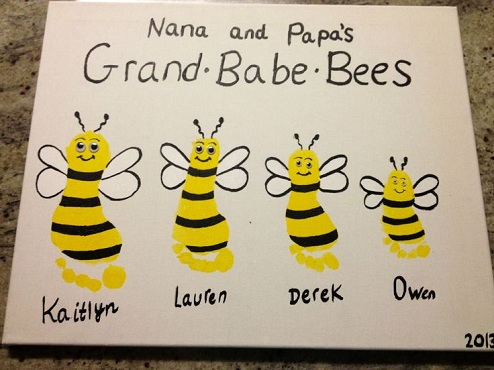 Baby Bees as a Craft Idea