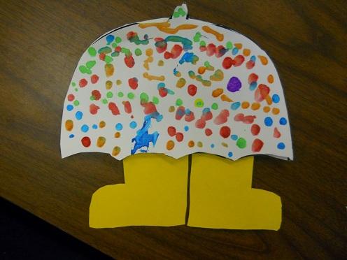 Baby Umbrella Craft