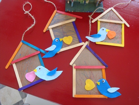 Bird House From Ice Cream Sticks