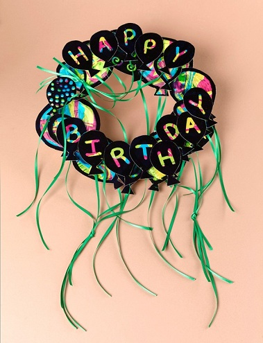 Birthday Wreath Craft