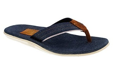 5ff1ba01816f Denim material is not only used in making jean and shirt but also used in  creating this innovative flip flop sandal design for men.