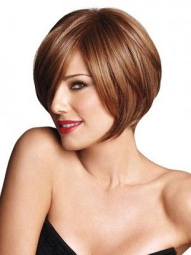 Bob Cut Hairstyle for Big Forehead