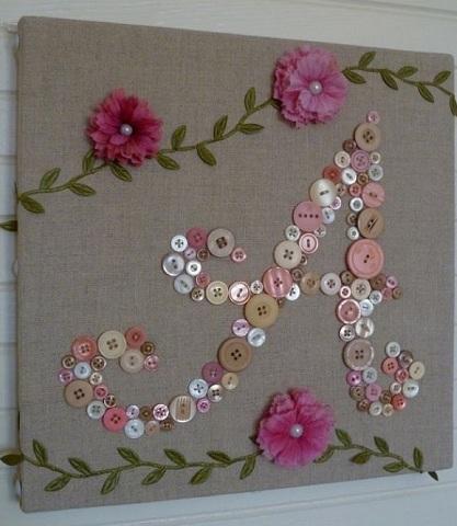 Button Art Craft as a Gift